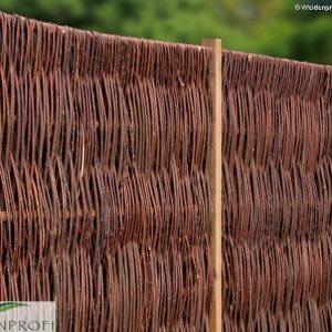 Weidenzaun LATO Solid, senkrecht geflochten 90 x 180 cm
